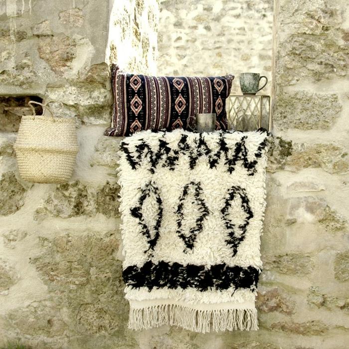 déco berbère jeté en laine