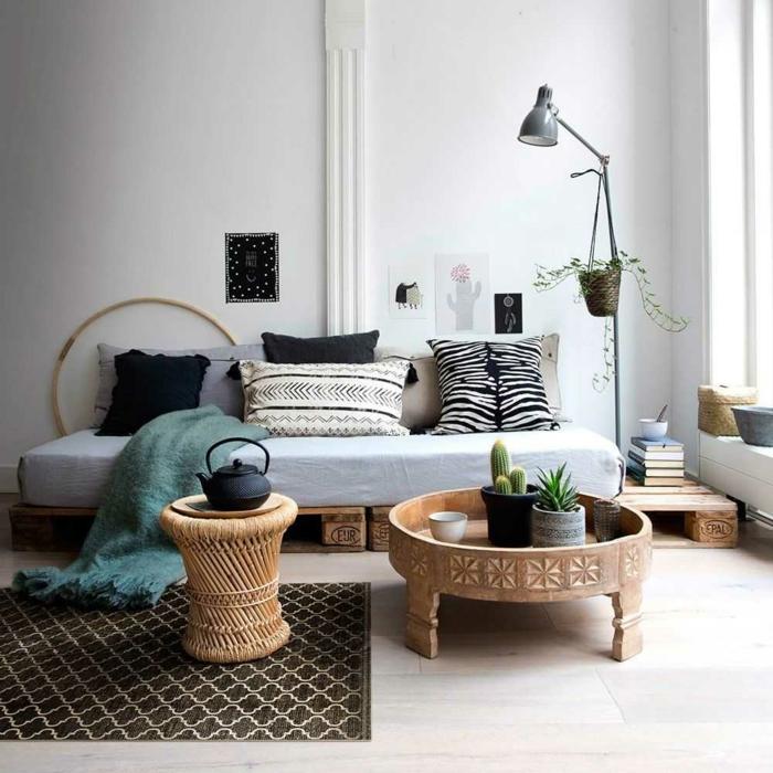 déco berbère salon meubles en bois noble