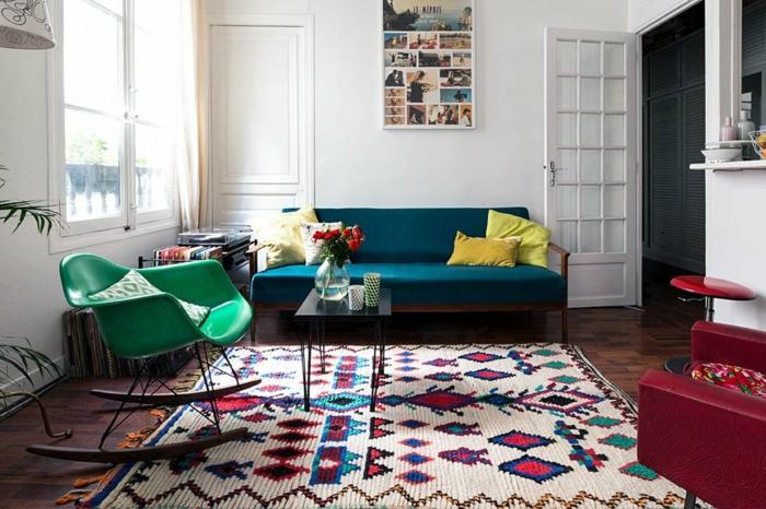 déco berbère tapis coloré