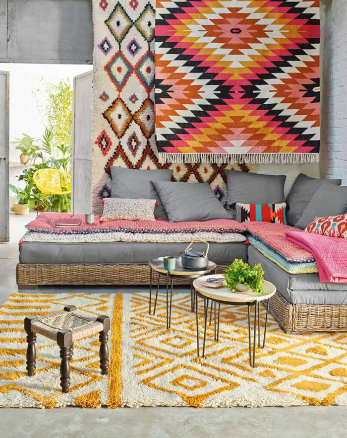 déco berbère tissage mural et tapis berbère