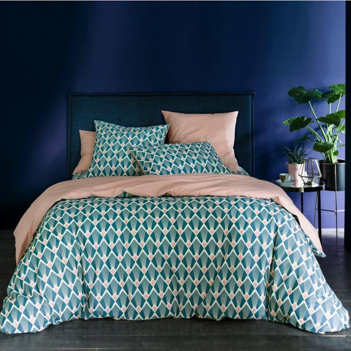 déco chambre avec linge de lit percale de coton