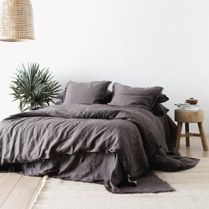déco chambre idée linge de lit en lin