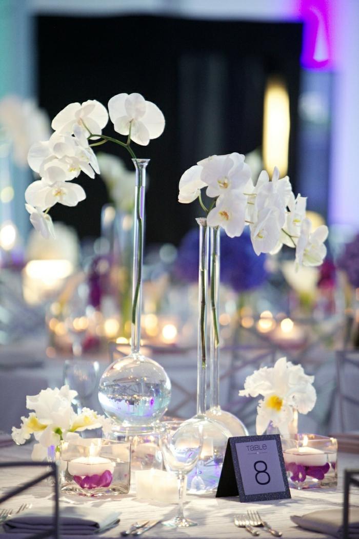 déco table mariage avec une orchidée