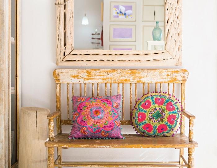 décoration mexicaine idée avec des coussins