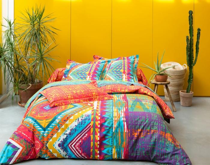 décoration mexicaine linge de lit aux couleurs vives