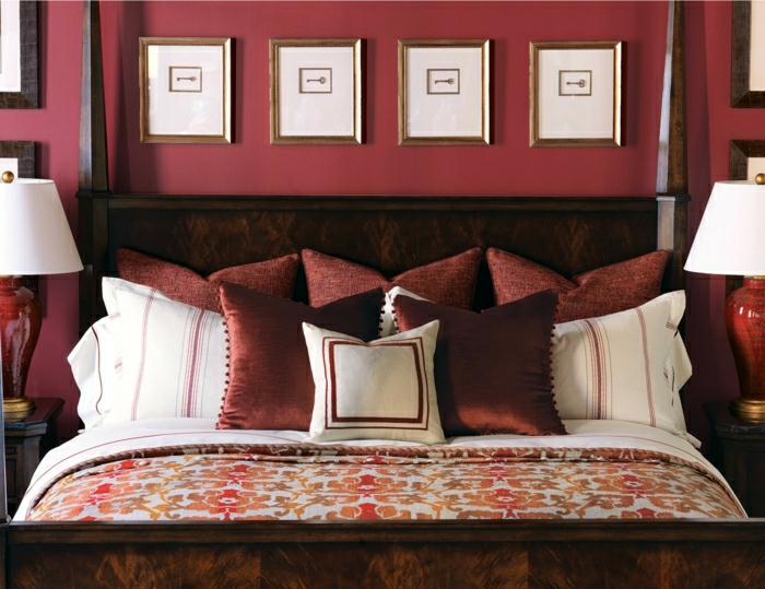 décorer la chambre avec la couleur lie de vin