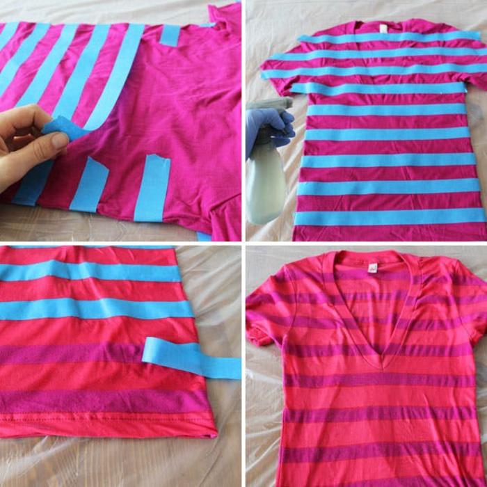 décorer t-shirt eau de javel concentrée