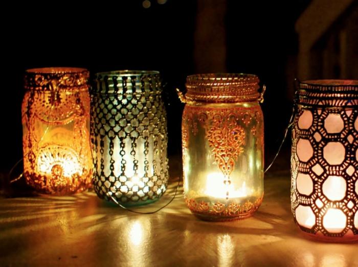 diy lanterne jardin style orientale