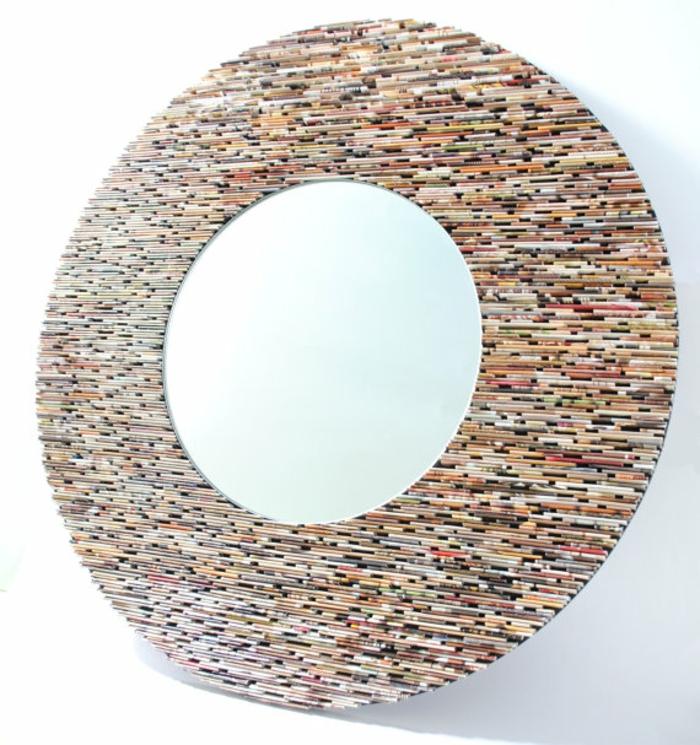 diy miroir avec du papier