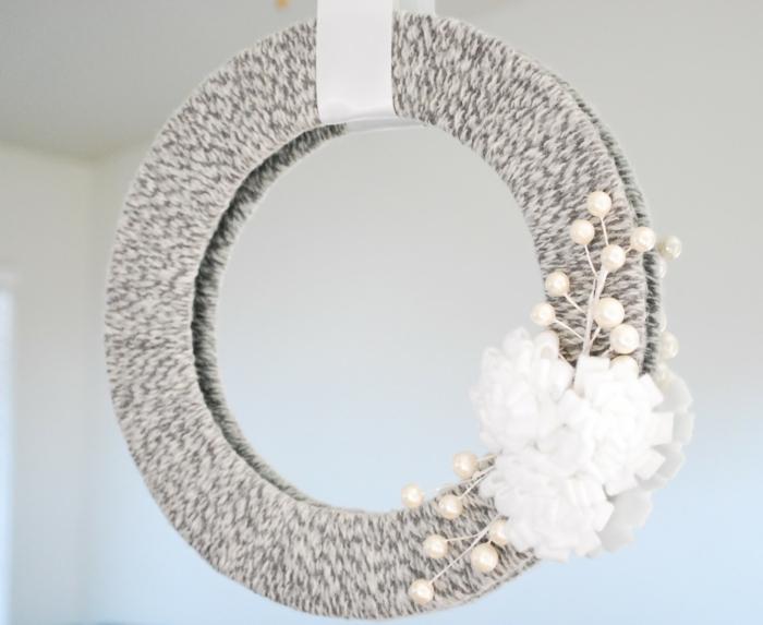diy miroir déco avec fils de coton