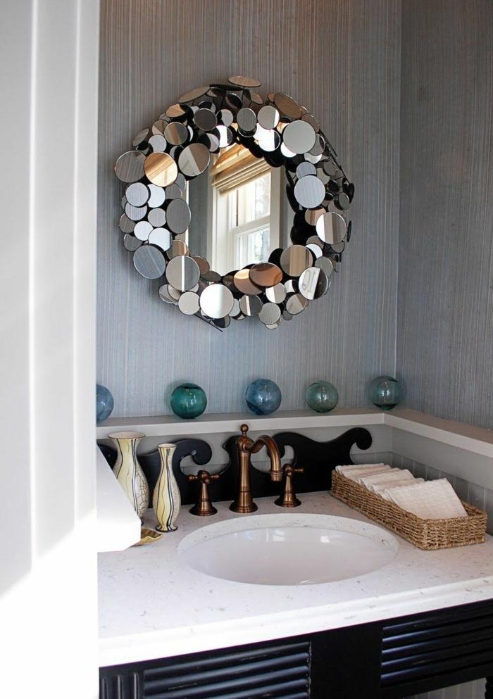 diy miroir idée salle de bain