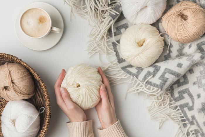 fils à tricoter couleurs neutres tricothérapie