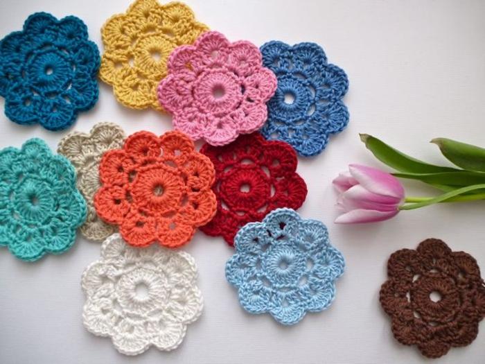 fleurs tricotage tricothérapie