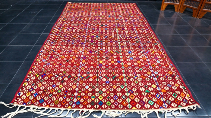 grand tapis berbère authentique