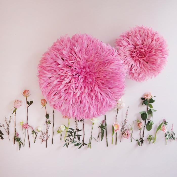 habiller un mur juju hat rose