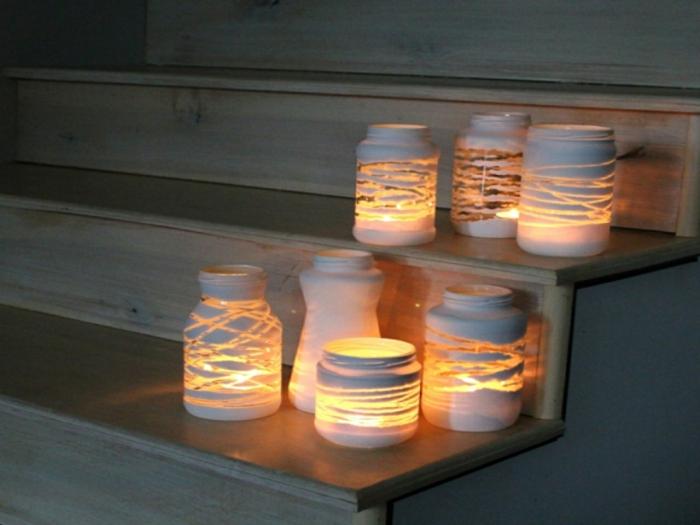 idée créative lanterne jardin
