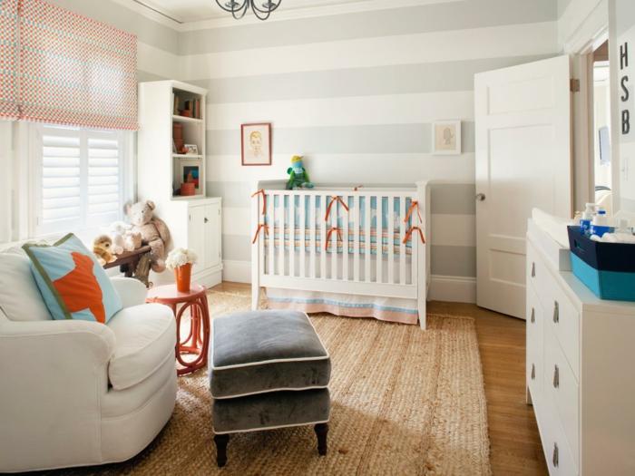 idée déco chambre bébé tapis berbère