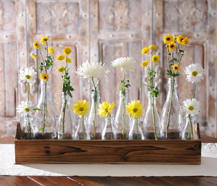 idée déco de table vase soliflore