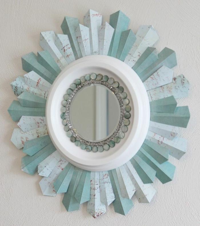 idée déco diy miroir touche verte