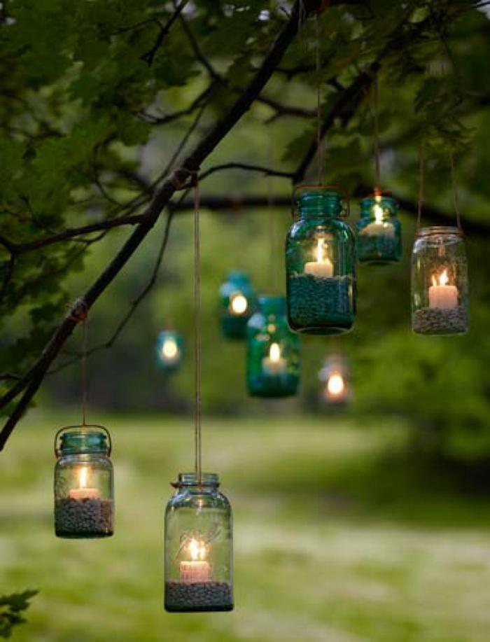 idée déco extérieur lanterne jardin