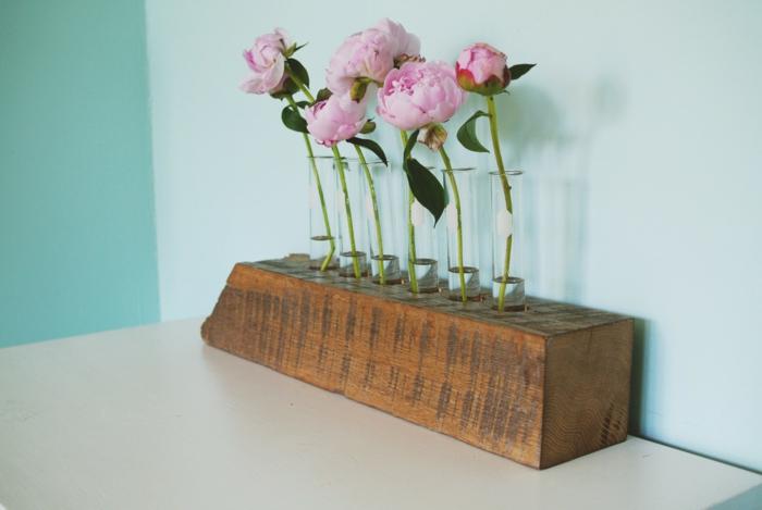 idée déco salon vase soliflore