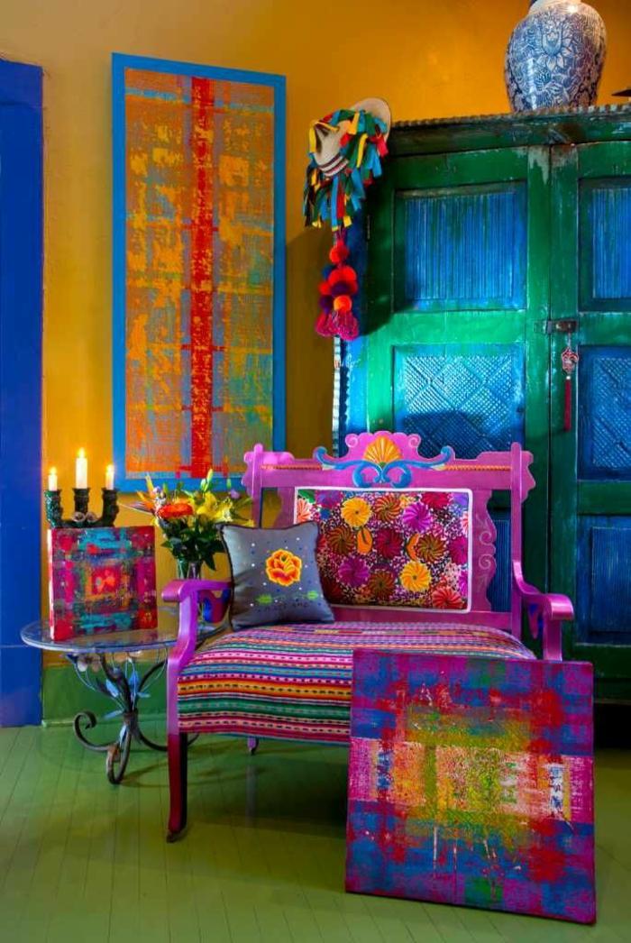idée décoration mexicaine pour une pièce moderne