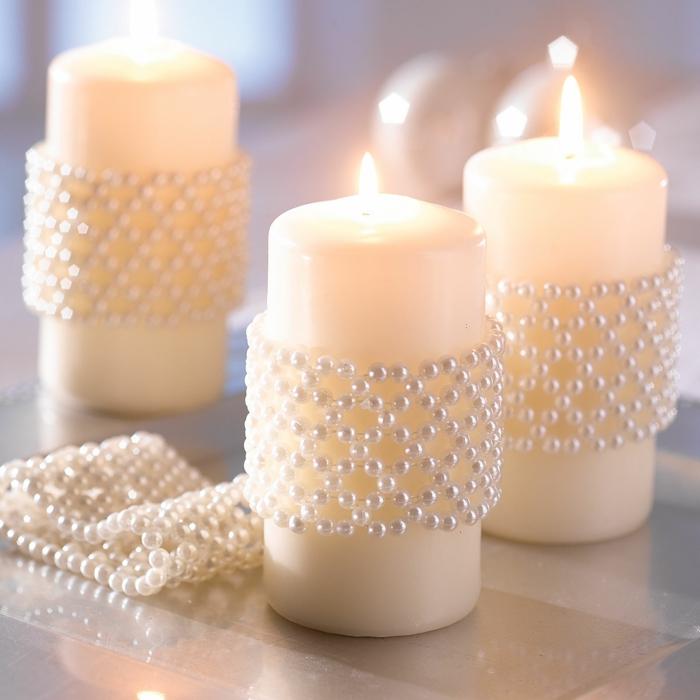 idée de décoration baptême pour les bougies