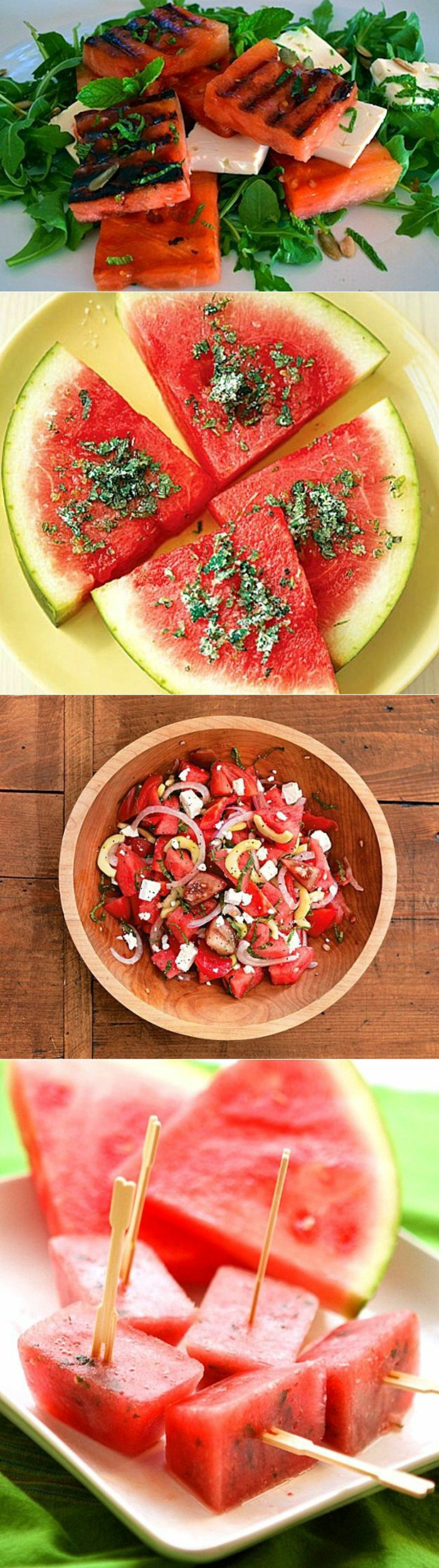 idée de desserts avec de la pastèque