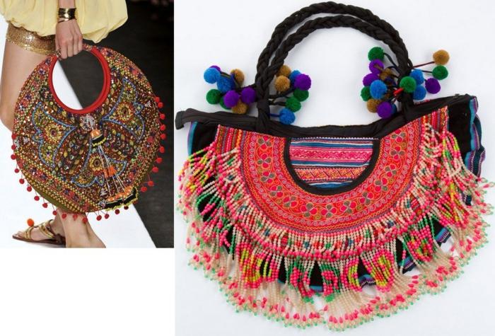 idée de sac à main moderne pour votre robe longue bohème