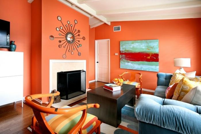 idée design intérieur couleur corail