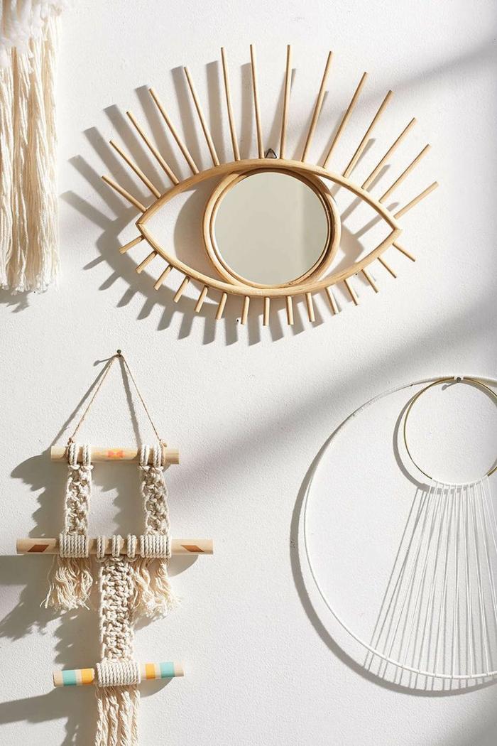 idée diy miroir déco avec du bois