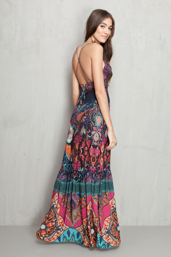 idée pour l'été robe longue bohème