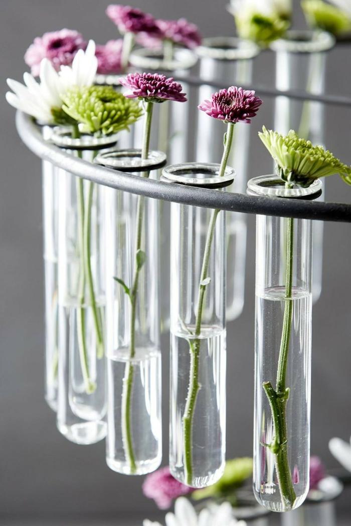 idée vase soliflore tubes à essai