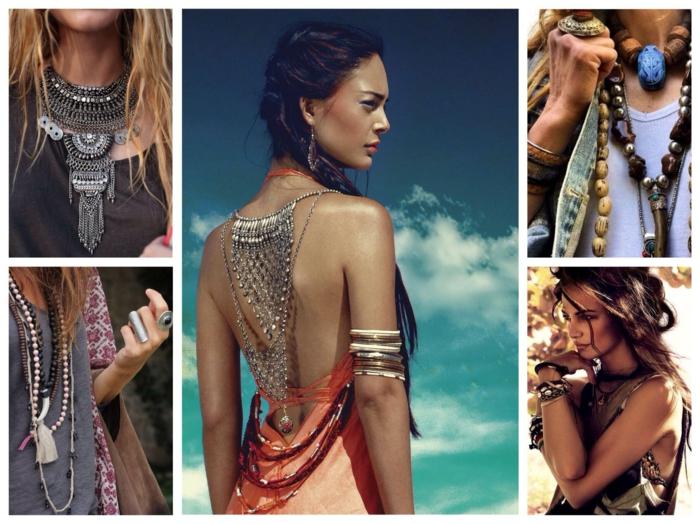 idées de boijoux pour la robe longue bohème