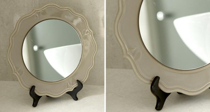 inspiration diy miroir idée avec une assiette