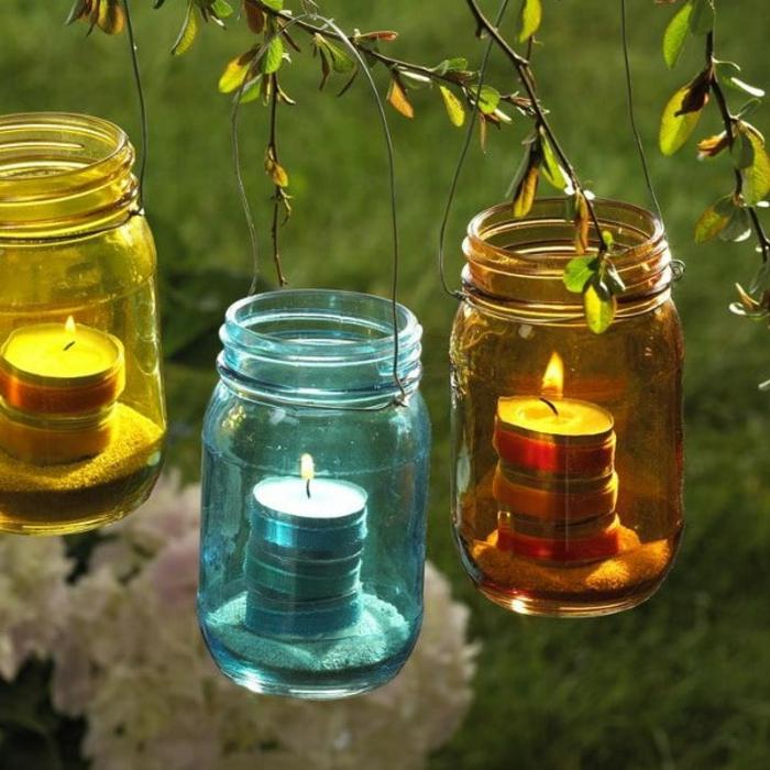 inspiration lanterne jardin fait maison