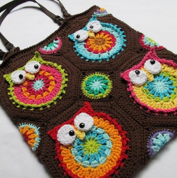 joli sac tricotage tricothérapie