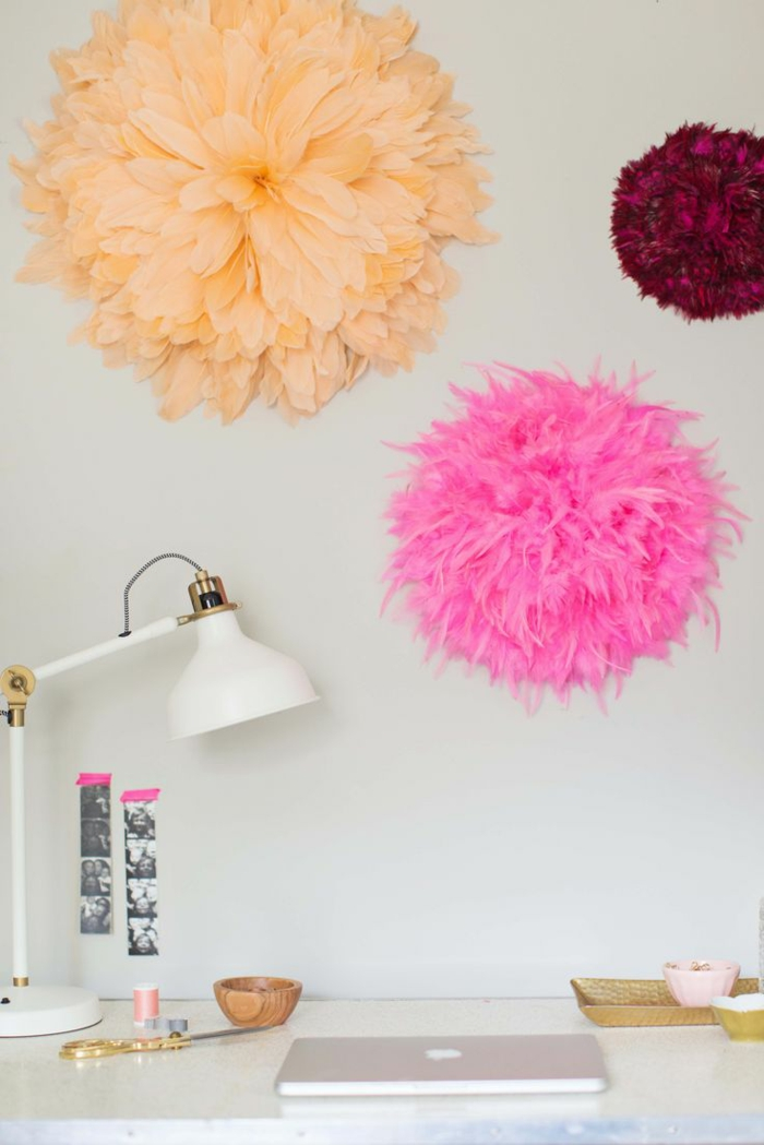 juju hat diy plumes artificielles