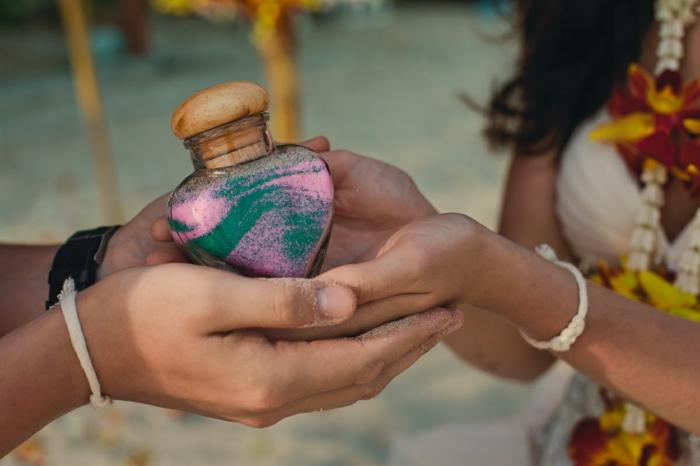 le résultat d'un rituel du sable