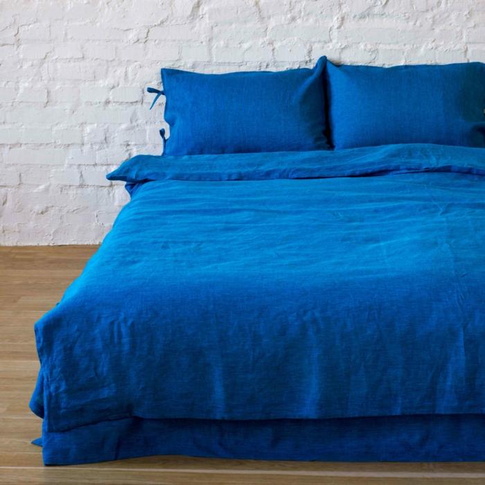linge de lit en lin idée déco chambre estivale