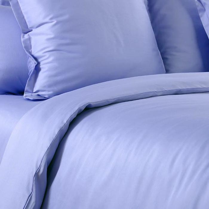 linge de lit en satin de coton violet