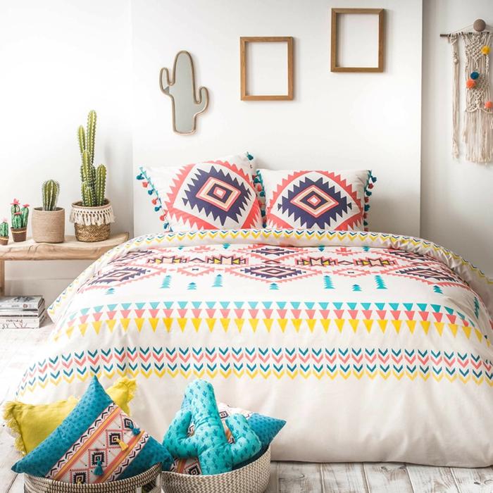 linge de lit idée de décoration mexicaine chambre