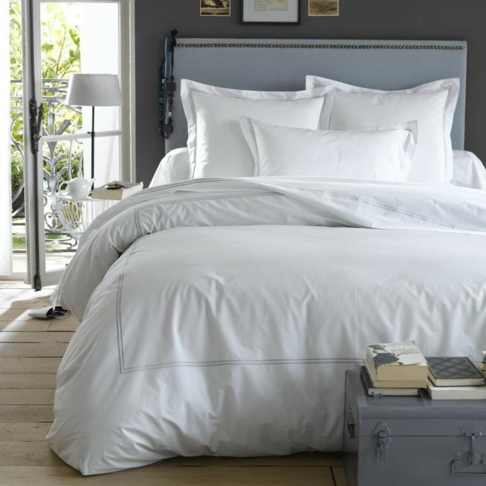 linge de lit percale de coton blanche