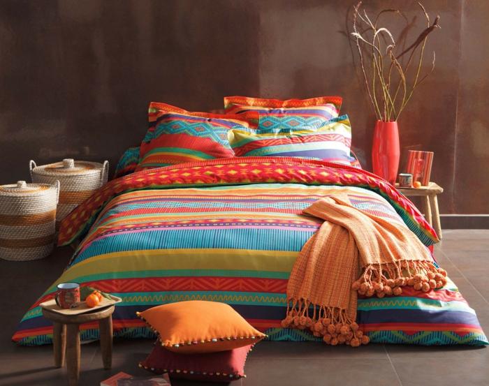 linge de lit style latino décoration mexicaine