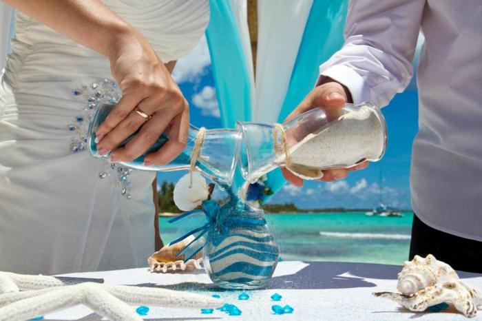 mariage hawai rituel du sable
