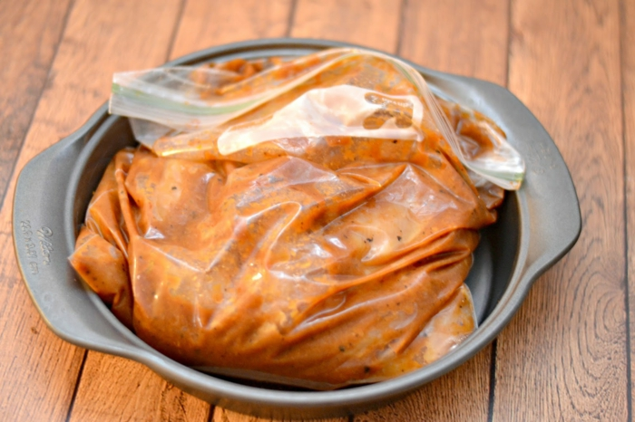 marinade poulet barbecue sac ziploc