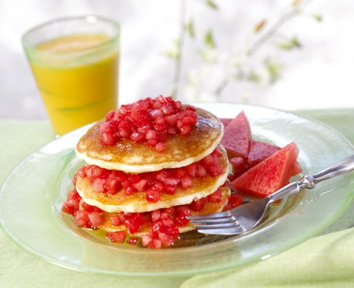 pancakes à la la pastèque