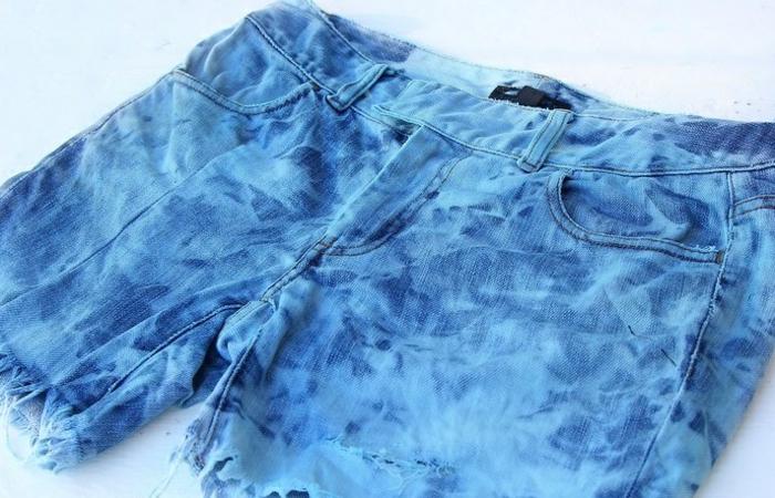 pantalon court eau de javel concentrée