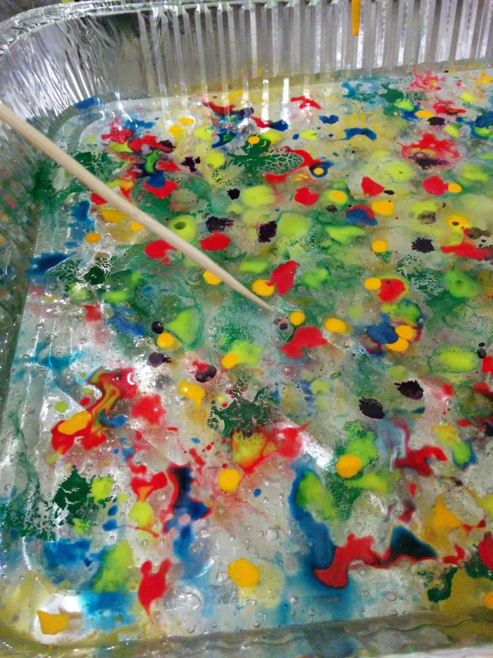 papier marbré effet coloré