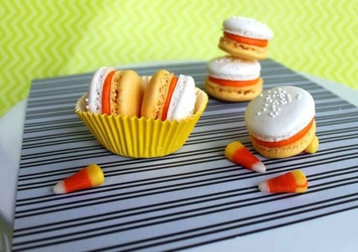 recette de macarons candy corn
